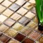 家居装饰材料棕色金线马赛克